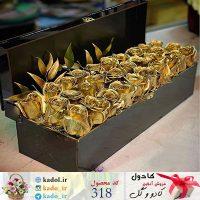باکس گل رز طلایی ترگل