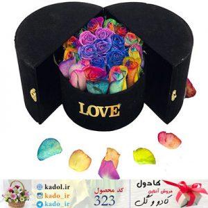 باکس گل رنگین کمانی دلسا