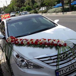 تزیین ماشین عروس و گل آرایی